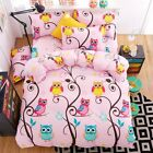 "New Kids""pink owl"" Bedding Set Super Soft Duvet Cover Twin Full Queen King"
