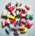 Z0-H018 Hair Clips Cute Kid Girls Baby Toddler Hairpin Colorful Ribbon Bow