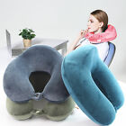 Memory Foam Large Neck Rest Travel U Pillow Airplane Train Bus Car Long Driving