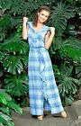 DRESS COTTON SUMMER GAUZE HOODED MAXI MADE IN EUROPE LUX WEIGHTLESS S M L XL 2XL