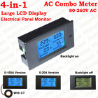 4-in-1 AC Volt Amp kWh Watt Power Monitor Tester Digital Electrical Combo Meter