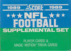 1989 Score Supplemental Football - Pick A Player $0.99 USD on eBay