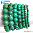 Handmade Vintage Antique Old Turquoise Beaded Stone Bracelet Free Shipping 7""