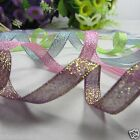 """25Yds 3/8""""(9mm) Metallic Craft Ribbon for Wedding Party Decor Sing Side You Pick"""
