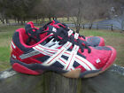 Women Athletic vollyball shoes Asics size 9 1/2 red ,Black gel Domain