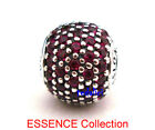 ESSENCE PASSION Fancy Red CZ 925 Sterling Silver To European Charm Bracelet
