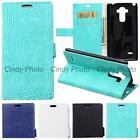 "For LG Optimus G4S G4 Beat G 4S 5.2"" Case Flip Cover Wild Crocodile PU Leather"