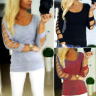 NEW WOMEN'S LOOSE LONG SLEEVE COTTON CASUAL BLOUSE SHIRT TOPS SWEATER PULLOVER