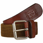 HoneyBadger Brown Canvas Casual Belts_CBLBW0052