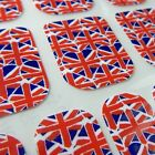Designer CHIX NAILS Union Jack Hearts Vinyl Nail Wraps Fingers Toes Foils Flag