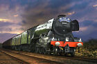 Flying Scotsman Locomotive Steam Train WALL ART CANVAS FRAMED OR POSTER PRINT