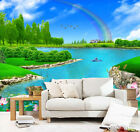 3D Rainbow Lake Scenery 1 Wall Paper Print Decal Wall Deco Indoor wall Mural