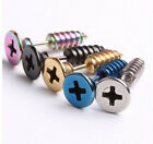 Unisex Fashion Punk Stainless Steel Fake Screw Piercing Ear Stud Earrings