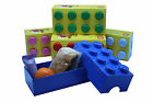 LEGO LUNCH BOX / STORAGE BRICK - NEW -- 7 COLOURS TO CHOOSE FROM