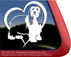 Bearded Collie Love High Quality Vinyl Window Decal Sticker | Choose Direction