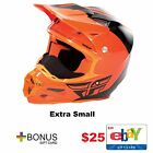 Fly Racing F2 Carbon Pure Cold Weather Helmet MX Dirt Offroad Free $25 Gift Card
