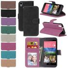 Classic PU Leather Flip Wallet Card Holder Stand Soft TPU Cover Case For HTC