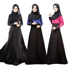 Women Lace Kaftan Abaya Dress Muslim Islam Jilbab Long Sleeve Maxi Dress