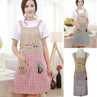 Womens Girls Kitchen Aprons Restaurant Cooking Bib Apron Dress W/ 2 Pockets
