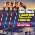 Trekking Hiking Walking Sticks For Men Women Poles Alpenstock Anti-Shock 1 Pair