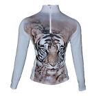 Hot Chillys Womens Base Layer Zip-T Top MTF Sublimated Purrfect HC7434