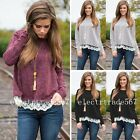 New Fashion Women's Loose Cotton Tops Long Sleeve Shirt Casual Blouse
