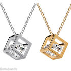Women Crystal Jewelry Eight Cubes Eight Heart Arrow Zirconia Pendant Necklace