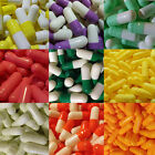 100 Empty Gelatin Capsules Size 0 Several colors to choose from.