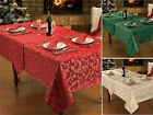 Christmas Glitter Festive Tablecloth Table Linen Xmas Napkins Runner Mat Set
