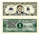Donald Trump Commander In Chief Million Dollar Bill 1 5 10 15 20 25 30 35 40 50