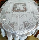 Large OVAL Lace  Floral design Tablecloth  60 x 90 Oval