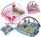 Large 110cm Light & Musical 4 in 1 Foldable Baby Activity Playmats Play Mat Gym