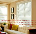 """2"""" FAUXWOOD BLINDS 93"""" WIDE x 85"""" to 96"""" LENGTHS - 3 GREAT WHITE COLORS!"""