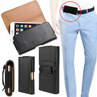 Leather Horizontal Belt Clip Case Pouch Cover Holster for Phones iPhone Samsung