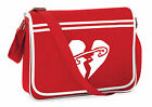 5SOS Five SOS Messenger Shoulder Bag School Collage Gym Safety Pin Heart Logo