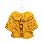 Baby Girl Cardigan Autumn Batwing Sleeve Pineapple Knitting Wool Sweater Coat