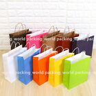 Many colors & size Kraft Paper Gift Carry Shopping Bags Retail Merchandise Bags