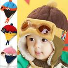 HX Winter Outdoor Children Cap Cool Pilot Hat Warm Thichen Ear-cover Windproof