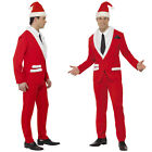 Smiffy's Mens Santa Cool Father Christmas Party Suit Fancy Dress Costume Outfit