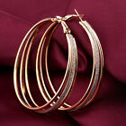 2016 Women Vintage Alloy Dull Polish Drop 6CM Hoop Round Dangle Earring Jewelry