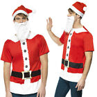 Smiffy's Adults Santa Claus Instant Kit Fancy Dress Christmas Costume Accessory
