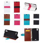 Flip Stand PU Leather Cover Wallet Case Pouch For ALCATEL Mobile Phone 04