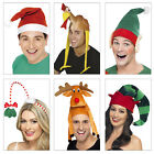 Smiffys Adults Novelty Christmas Hats Fancy Dress Festive Costume Accessory
