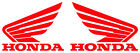 Two (2):  Honda Motorcycle Gas Tank Left/Right stickers VINYL DECALS