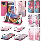 Leather Wallet Diary Case Flip Stand Pouch Cover for LG Tribute HD / X Style