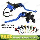 "New 7/8"" CNC Clutch Brake Master Cylinder Reservoir Levers Adjustable Motorcycle"