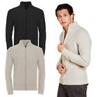 Brave Soul Mens Gravity Waffle Knit Jumper Zip Through New Designer Cardigan Top