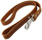 "Genuine Thick Leather Dog Leash 4' Long, 1"" wide, for Xlarge Breeds"