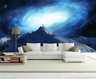 3D Snow Mountain star Space Wall Paper Print Decal Wall Deco Indoor wall Mural