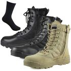Forced Entry Leather Tactical Deployment Boot Military SWAT Boots Duty Work Hot